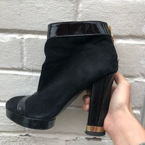 Leather Tory Burch booties